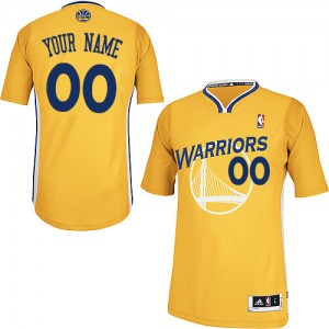 Golden State Warriors Authentic Personnalisé Alternate Maillot d'équipe de NBA - Or pour Enfants