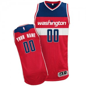Maillot NBA Rouge Authentic Personnalisé Washington Wizards Road Homme Adidas