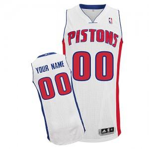 Detroit Pistons Personnalisé Adidas Home Blanc Maillot d'équipe de NBA sortie magasin - Authentic pour Homme