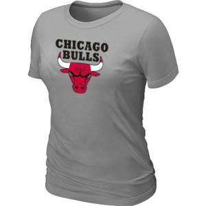 Chicago Bulls Big & Tall Tee-Shirt d'équipe de NBA - Gris clair pour Femme