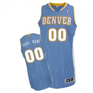 Denver Nuggets Authentic Personnalisé Road Maillot d'équipe de NBA - Bleu clair pour Homme