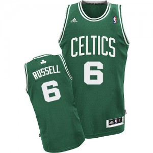 Boston Celtics #6 Adidas Road Vert (No Blanc) Swingman Maillot d'équipe de NBA Prix d'usine - Bill Russell pour Homme