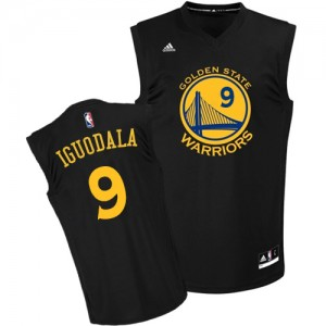 Maillot Authentic Golden State Warriors NBA Fashion Noir - #9 Andre Iguodala - Homme