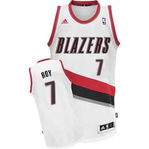 Portland Trail Blazers Brandon Roy #7 Home Swingman Maillot d'équipe de NBA - Blanc pour Homme
