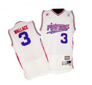 Detroit Pistons Ben Wallace #3 Throwback Swingman Maillot d'équipe de NBA - Blanc pour Homme