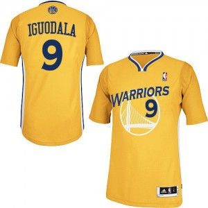 Maillot NBA Or Andre Iguodala #9 Golden State Warriors Alternate Authentic Homme Adidas
