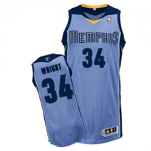 Maillot Authentic Memphis Grizzlies NBA Alternate Bleu clair - #34 Brandan Wright - Homme