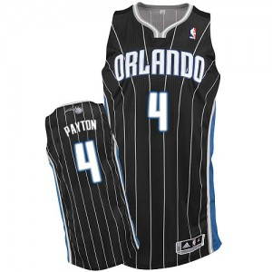 Maillot NBA Orlando Magic #4 Elfrid Payton Noir Adidas Authentic Alternate - Homme