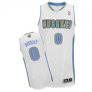 Denver Nuggets Emmanuel Mudiay #0 Home Authentic Maillot d'équipe de NBA - Blanc pour Homme