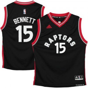Maillot NBA Noir Anthony Bennett #15 Toronto Raptors Authentic Homme Adidas