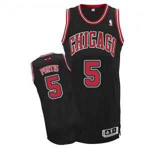 Maillot Adidas Noir Alternate Authentic Chicago Bulls - Bobby Portis #5 - Homme