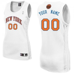 Maillot NBA New York Knicks Personnalisé Authentic Blanc Adidas Home - Femme