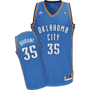 Oklahoma City Thunder Kevin Durant #35 Road Swingman Maillot d'équipe de NBA - Bleu royal pour Enfants