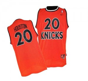 Maillot Nike Orange Throwback Authentic New York Knicks - Allan Houston #20 - Homme