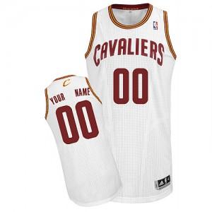 Maillot NBA Authentic Personnalisé Cleveland Cavaliers Home Blanc - Homme