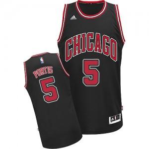 Chicago Bulls Bobby Portis #5 Alternate Swingman Maillot d'équipe de NBA - Noir pour Homme