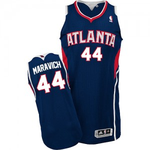 Maillot NBA Atlanta Hawks #44 Pete Maravich Bleu marin Adidas Authentic Road - Homme
