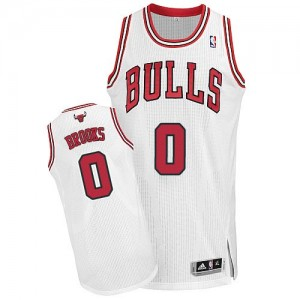 Maillot Adidas Blanc Home Authentic Chicago Bulls - Aaron Brooks #0 - Homme