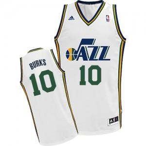 Maillot Swingman Utah Jazz NBA Home Blanc - #10 Alec Burks - Homme