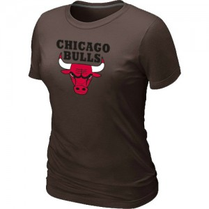 T-shirt principal de logo Chicago Bulls NBA Big & Tall marron - Femme