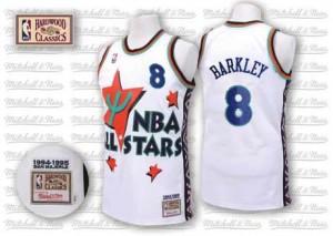 Phoenix Suns #8 Adidas Throwback 1995 All Star Blanc Swingman Maillot d'équipe de NBA prix d'usine en ligne - Charles Barkley pour Homme