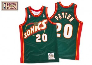 Oklahoma City Thunder #20 Mitchell and Ness SuperSonics Throwback Vert Swingman Maillot d'équipe de NBA pas cher - Gary Payton pour Homme