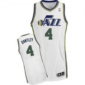 Maillot NBA Blanc Adrian Dantley #4 Utah Jazz Home Authentic Homme Adidas