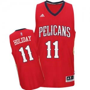 New Orleans Pelicans Jrue Holiday #11 Alternate Authentic Maillot d'équipe de NBA - Rouge pour Homme