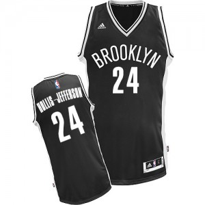 Brooklyn Nets #24 Adidas Road Noir Swingman Maillot d'équipe de NBA la meilleure qualité - Rondae Hollis-Jefferson pour Homme