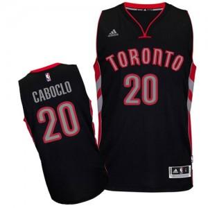 Toronto Raptors Bruno Caboclo #20 Alternate Swingman Maillot d'équipe de NBA - Noir pour Homme