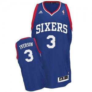 Maillot NBA Swingman Allen Iverson #3 Philadelphia 76ers Alternate Bleu royal - Enfants