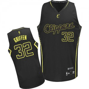 Maillot NBA Los Angeles Clippers #32 Blake Griffin Noir Adidas Authentic Electricity Fashion - Homme