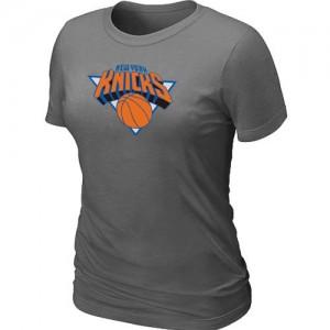 New York Knicks Big & Tall Gris foncé Tee-Shirt d'équipe de NBA en ligne - pour Femme