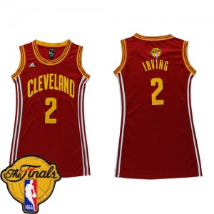 Maillot Swingman Cleveland Cavaliers NBA Dress 2015 The Finals Patch Vin Rouge - #2 Kyrie Irving - Femme