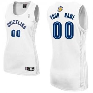 Maillot NBA Memphis Grizzlies Personnalisé Authentic Blanc Adidas Home - Femme