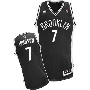 Brooklyn Nets #7 Adidas Road Noir Swingman Maillot d'équipe de NBA en soldes - Joe Johnson pour Homme