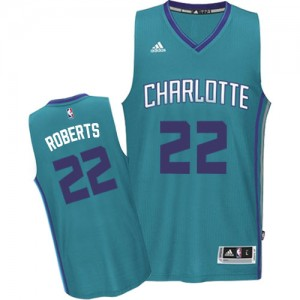 Maillot NBA Charlotte Hornets #22 Brian Roberts Bleu clair Adidas Authentic Road - Homme