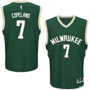 Maillot Adidas Vert Road Authentic Milwaukee Bucks - Chris Copeland #7 - Homme