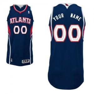Maillot NBA Bleu marin Authentic Personnalisé Atlanta Hawks Road Homme Adidas