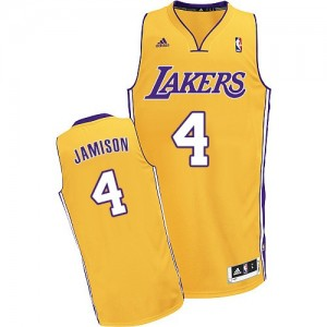 Maillot NBA Los Angeles Lakers #4 Byron Scott Or Adidas Swingman Home - Homme