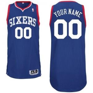 Maillot NBA Philadelphia 76ers Personnalisé Authentic Bleu royal Adidas Alternate - Homme