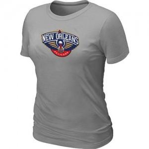 T-shirt principal de logo New Orleans Pelicans NBA Big & Tall Gris - Femme