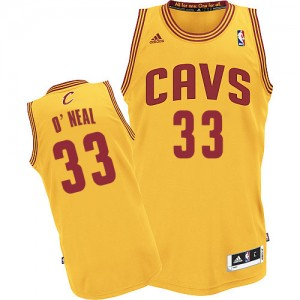 Maillot NBA Or Shaquille O'Neal #33 Cleveland Cavaliers Alternate Swingman Homme Adidas
