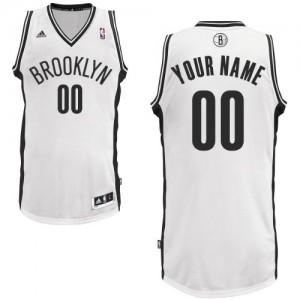 Maillot NBA Brooklyn Nets Personnalisé Swingman Blanc Adidas Home - Homme