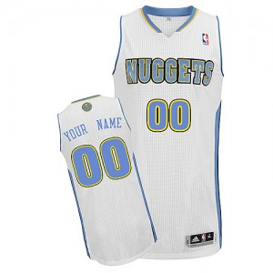 Maillot Denver Nuggets NBA Home Blanc - Personnalisé Authentic - Homme
