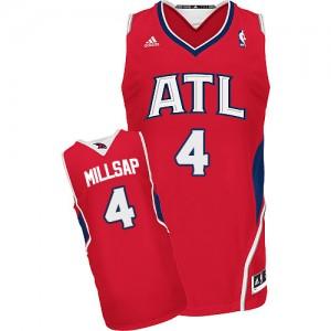Atlanta Hawks #4 Adidas Alternate Rouge Swingman Maillot d'équipe de NBA pas cher en ligne - Paul Millsap pour Homme
