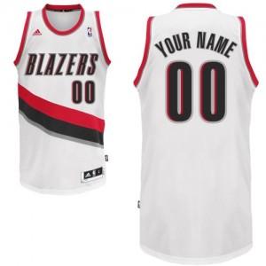 Portland Trail Blazers Swingman Personnalisé Home Maillot d'équipe de NBA - Blanc pour Enfants