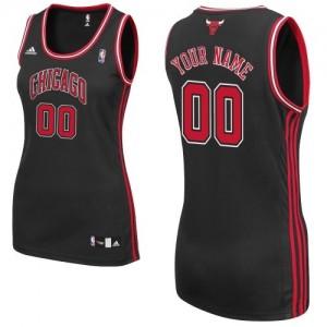 Maillot NBA Chicago Bulls Personnalisé Authentic Noir Adidas Alternate - Femme