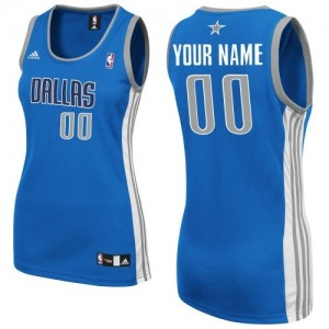 Maillot NBA Swingman Personnalisé Dallas Mavericks Road Bleu royal - Femme