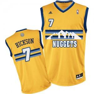 Denver Nuggets JJ Hickson #7 Alternate Swingman Maillot d'équipe de NBA - Or pour Homme